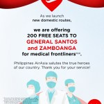AirAsia honors medical frontliners, offers 200 free flights to newly launched destinations