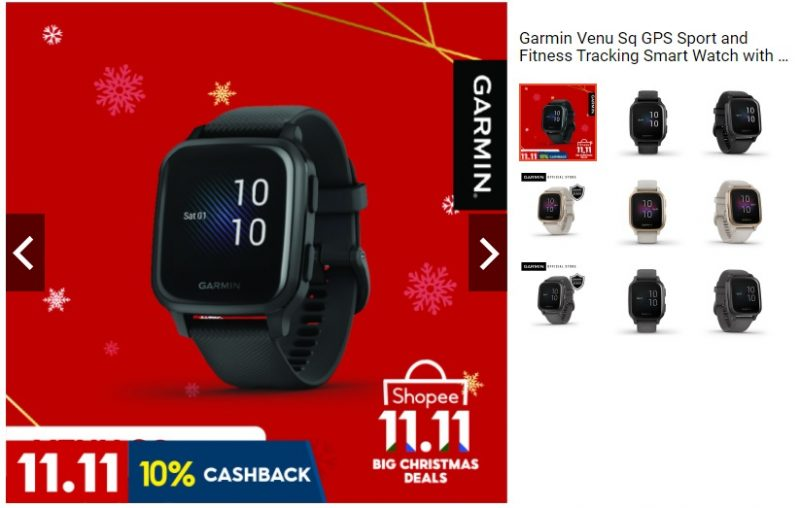 Garmin Venu Sq Exclusive Launch happening at Shopee
