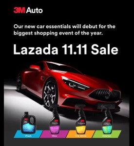 3M Auto launches in Lazada this 11.11