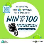 Get a chance to win a motorcycle when you #ScanToPay with PayMaya QR at The SM Store!