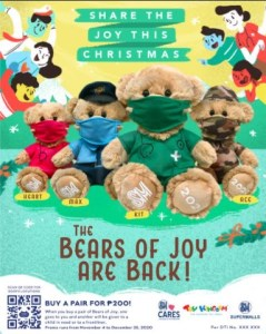 SM Bears of Joy are back to honor frontliners
