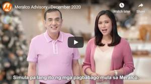 Meralco announces lower electricity prices this holiday season
