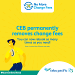 No more change fees! Passengers can now rebook Cebu Pacific flights as many times as they need