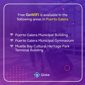 Puerto Galera Municipal Hall and other town areas, now GoWiFi zones