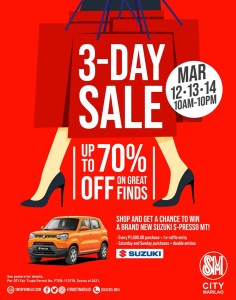 March on to SM City Marilao's 3 day sale