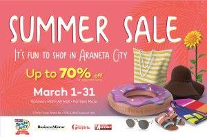 Dive into a fun summer shopping experience in Araneta City