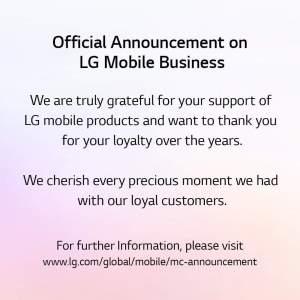 LG Mobile Business announces exit