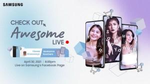 Join Team Galaxy ambassadors Sanya Lopez, Hannah Pangilinan, and Erika Rabara in Samsung's #AwesomeLive shopping event
