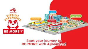 Ajinomoto launches Virtual Experience: Be More where students and homemakers can learn about food safety, sustainability, and more!