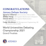 Two teams from Ateneo make history at WUDC 2021