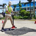 Very timely for the changing weathers, Phoenix Asphalt introduces a DIY product that can easily fix pothole problems
