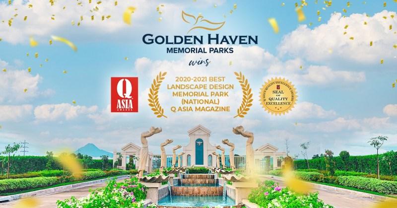 Golden Haven bags Best Landscape Design Memorial Park award in the Philippines