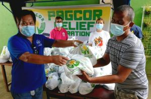 PAGCOR delivers relief aid to Batangas residents affected by renewed Taal activity