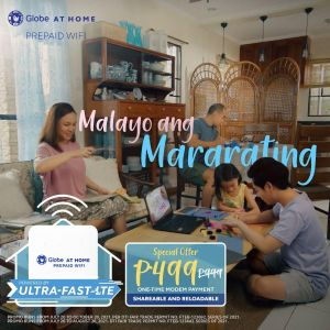 Go further with Globe At Home Prepaid WiFi, now at P499 until August 31 only