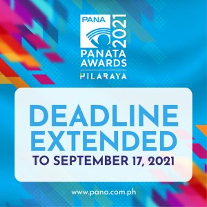 PANAta Awards 2021 submission of entries EXTENDED until September 17