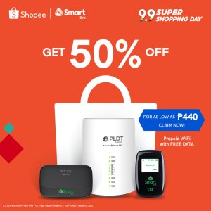 Get up to 50% off on Smart Bro devices at Shopee's 9.9 sale!