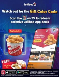 Jollibee launches the Gift Color Code for an exclusive free offer