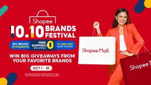 Win big giveaways from your favorite brands at Shopee's 10.10 Brands Festival
