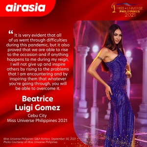 AirAsia Philippines celebrates Phenomenal women, awards UNLIMITED roundtrip tickets for 2 to Miss Universe Philippines 2021 and Miss AirAsia