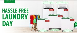 Achieve a hassle-free laundry day with XTREME Cool's new washing machines