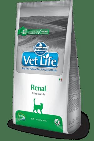Farmina Vet Life Renal je kompletní dietetické krmivo pro kočky určené k podpoře ledvin v případě chronické nebo dočasné ledvinové nedostatečnosti.