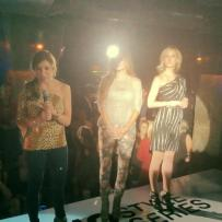 Chicago Fashion Foundation members of the board welcoming the guests. President of the board Amanda Domaleczny introduces the show.