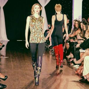 Boots by Just Juman shown at Next Fashion 2012 runway show at Germania Place during Fashion Focus Week Chicago.