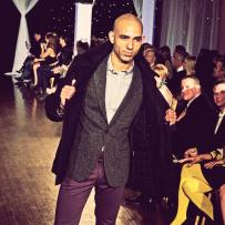 Clothes styled by Akira at Next Fashion 2012 runway show at Germania Place during Fashion Focus Week Chicago. Model Marco Foster.