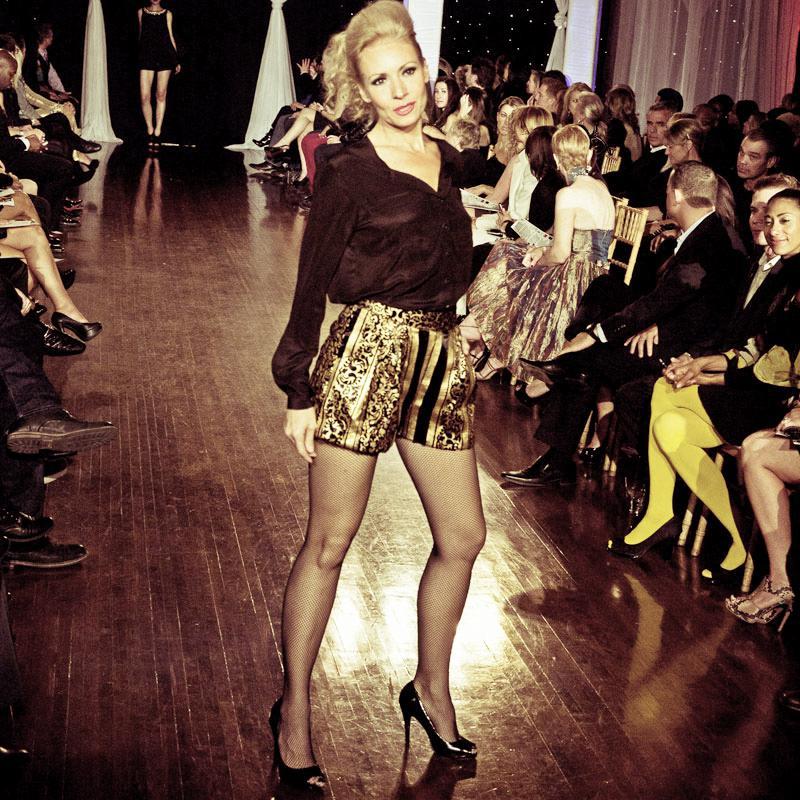 Design by Sahar Dada shown at Next Fashion 2012 runway show at Germania Place during Fashion Focus Week Chicago.