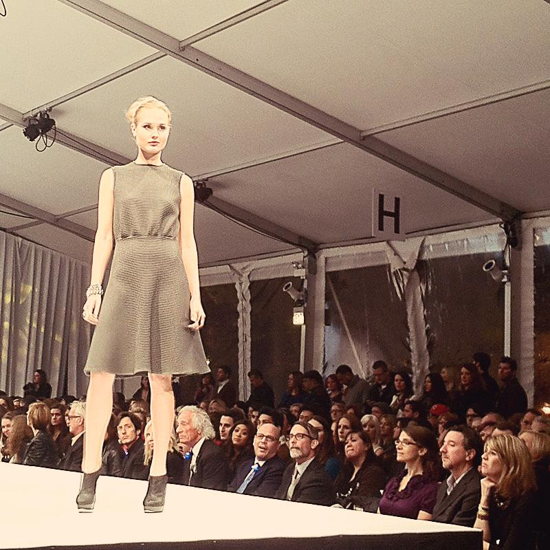 Design by C.Dahlstedt shown at Fashion Takes Flight runway show which is the finale of Mario, Make Me a Model competition and the headlining show at the Fashion Focus Chicago 2012. Model from Factor.