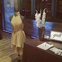 Designer GIDI table at the Heshima Kenya Fashion Challenge a Project Runway inspired competition.
