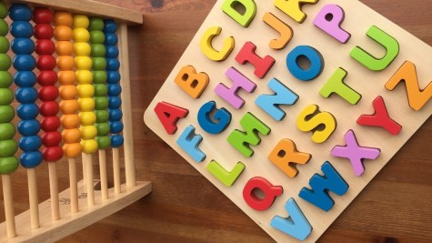 rainbow abacus wooden alphabet