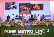 PM Modi lay foundation stone for Pune Metro line 3 in Pune