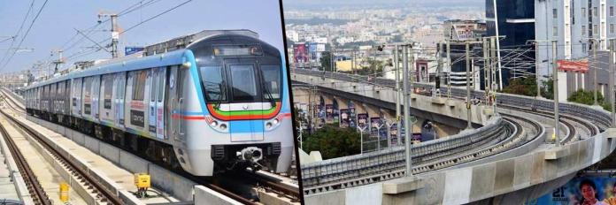 The tentative date for metro rail link to Hi-Tec City from Ameerpet interchange station (10 km) to become operational is February 15