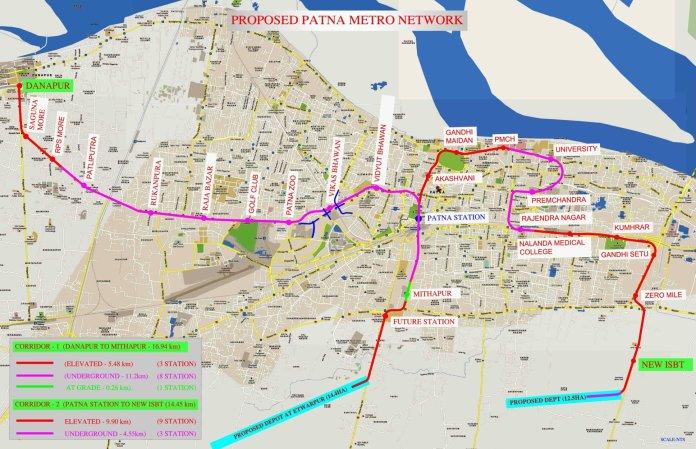Proposed Patna Metro Rail Map