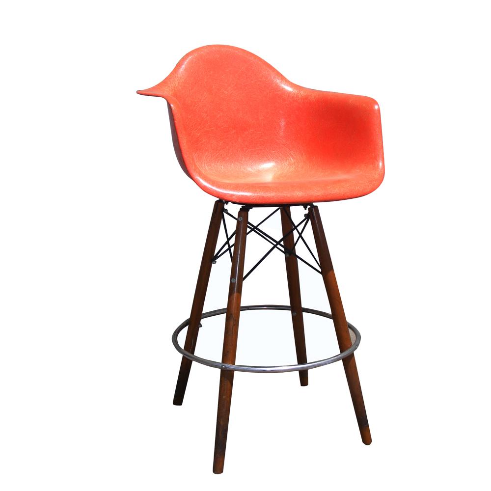 21 Vintage Mid Century Eames H Miller Fiberglass Arm Shell Chair ...
