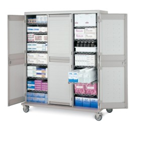 General Supply Mobile Tall Unit Triple Wide