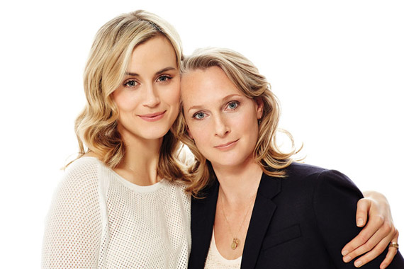 Taylor Schilling (L) and Piper Kerman Photo by Brian Bowen-Smith for Netflix