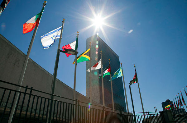 United Nations headquarters (Photo credit: Fernanda LeMarie, Cancilleria de Ecuador, via Wikimedia Commons).