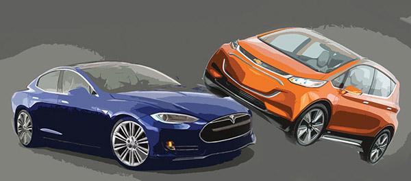 Tesla Model 3 vs. Chevy Bolt