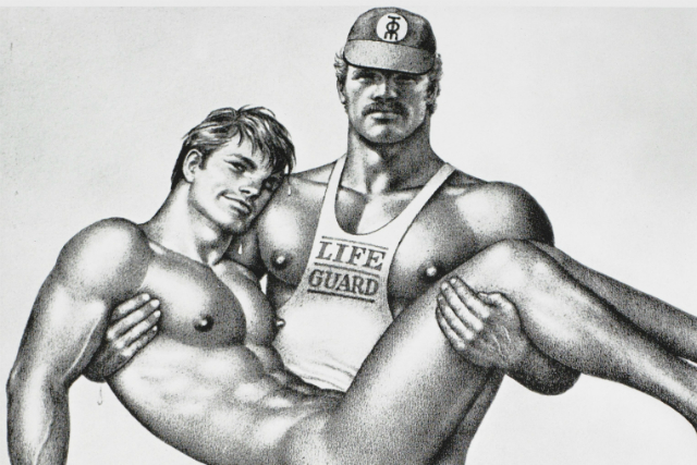 Image result for tom of finland drawing