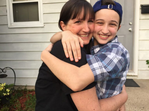 Ash Whitaker (right) and his mother, Melissa - Photo: Transgender law Center
