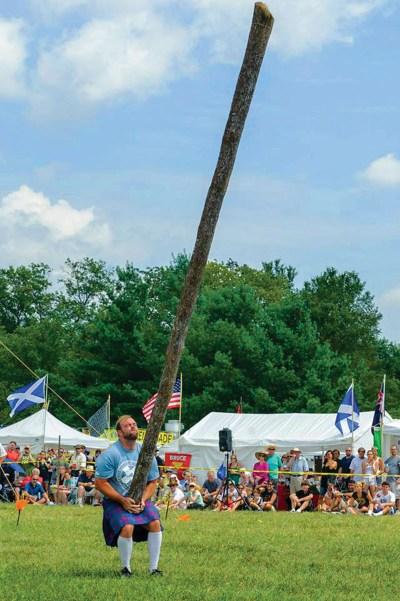 Caber toss, Photo: Virginia Scottish Games Association
