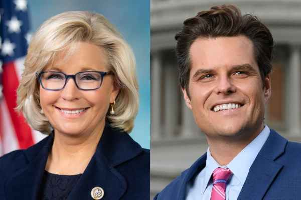 liz cheney, matt gaetz, republican, makeup, homophobic