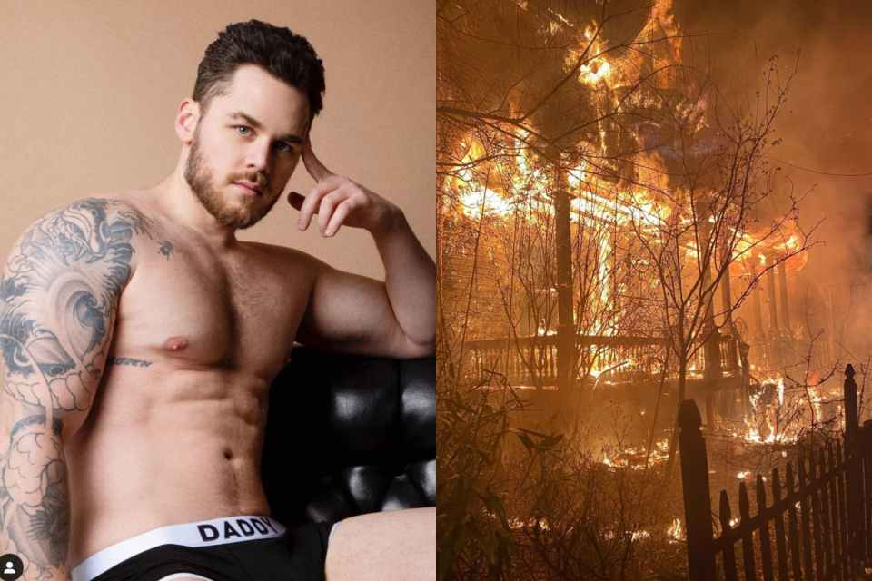 matthew camp, gay, fire, adult performer, arson, attack