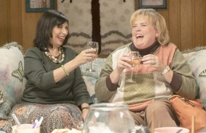 Rose Abdoo (left) with Fortune Feimster (right)