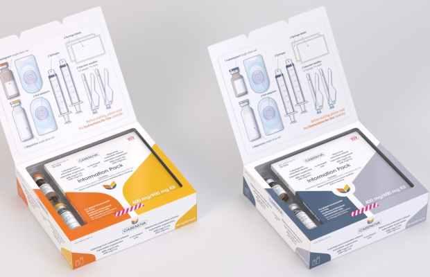 Box of parody video game condoms