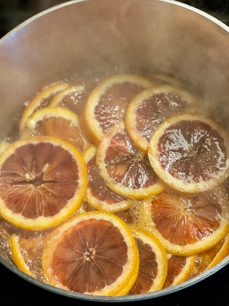 Olive Oil Cake candied oranges