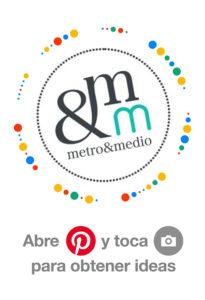 Metro&medio Designs insignia de Pinterest. ¡Sígueme!