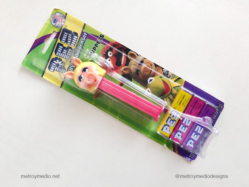 Dispensador de caramelos Pez de Miss Piggy o Cerdita Peggy, edición Teleñecos o Muppets